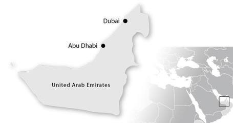 map dubai